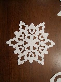 6-pointed snowflake instructions.  So pretty!