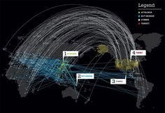 When Bots Attack.  Using rented botnets, you can launch hundreds of thousands — even millions — of infobombs at a target, all while maintaining total deniability. In this hypothetical scenario, a single attack launched by China against the US lasts only a few hours, but a full-scale assault lasting days or weeks could bring an entire modern information economy to its knees. This infographic is supposed to illustrate it.