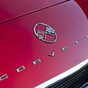 1962 Chevrolet Corvette Hood Emblem 3 Poster by Jill Reger
