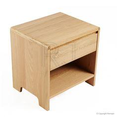 St George Designer 1 Drawer Bedside Table - Oak
