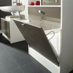 1000 id es sur le th me armoire linge de salle de bains - Meuble salle de bain avec bac a linge integre ...