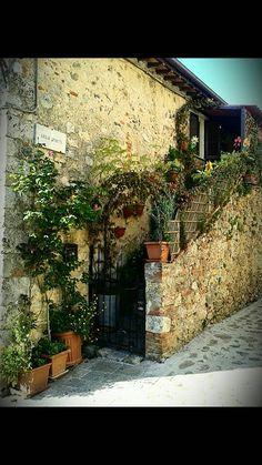 Monteriggione, Toscana, Italia
