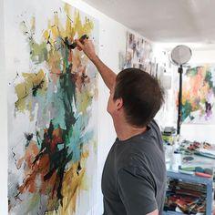 "1,344 likerklikk, 34 kommentarer – Carlos Ramirez (@carlosramirezstudio) på Instagram: ""WIP #abstract #abstractart #abstractpainting #art #wip #artist #artiststudio #color #painting…"""