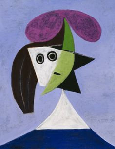 Pablo Picasso, Woman in a Hat [Olga], 1935 on ArtStack #pablo-picasso #art