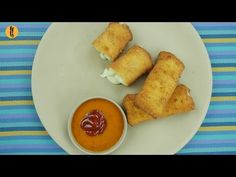 Bread Cheese Cigars Recipe (made into rolls) by Food Fusion - YouTube