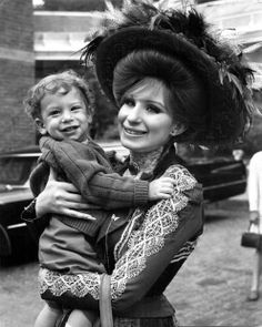 Barbra Streisand and son Jason on set film Hello Dolly