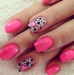 Pink and dots with a heart