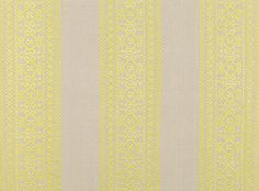A decorative embroidered stripe on a natural linen ground. Embroidered Linen  Designer Fabrics & Wallcoverings, Upholstery Fabrics
