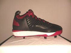 b60592ec9 New Adidas Energy Boost Icon 3 Men s Size 9 Metal Baseball Cleats B39161  Blk Red