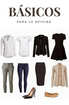Los básicos para la oficina nunca pueden faltar. ¿Tienes todos?   prendas básicas mujer oficina   outfit de oficina juvenil mujer   #outfits