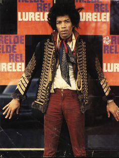 ♡♥Jimi Hendrix in Amsterdam March 14th,1967 on the sidelines of the Fan Club TV…