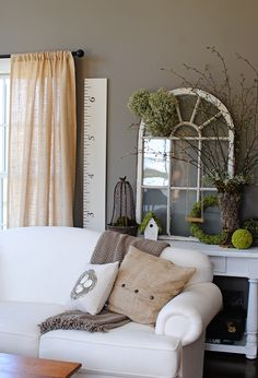 Maybe some old window frames for the family room wall...