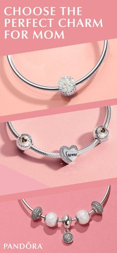 Charms are the perfect expression of your love. Fill mom's heart and her bracelet with shimmering sterling silver styles, loving hearts and sweet sentiments of your affection. Treat mom at pandora.net.