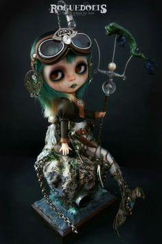 Steampunk Mermaid by RogueDolls