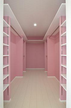 Custom Closet Design, Bedroom Closet Design, Girl Bedroom Designs, Closet Designs, Bedroom Decor, Pink Closet, Beauty Room Decor, Wardrobe Room, Dressing Room Design