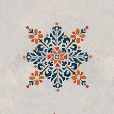 Moroccan Stencils | Embroidered Star Stencil | Royal Design Studio