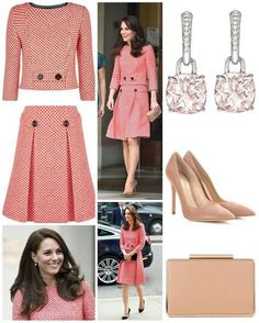 23 March 2017 The Duchess brought back her much loved red and white gingham skirt suit from Kensington based bespoke firm Eponine London… Looks Kate Middleton, Kate Middleton Dress, Princess Kate Middleton, Style Royal, My Style, The Duchess, Robes Vintage, Gingham Skirt, Royal Clothing