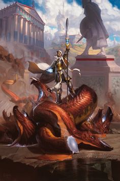 Theros is a gorgeous neoclassical fantasy, in this new Magic set