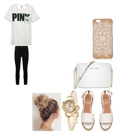 """""""mkju"""" by briannabranch4 ❤ liked on Polyvore featuring Victoria's Secret, Paige Denim and Michael Kors"""