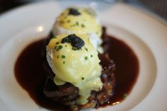 Just looking at this Shortrib Benedict makes us hungry. Chef Trang Tran from The Henry, where this is served, told us that the secret to braising meat is to get a good sear on all sides. Caramelizing the meat is what gives the braise depth in flavor. Yum!