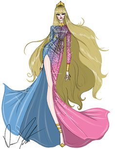 Illustrations by Trendy by Daren J Disney fashion frenzy, Aurora, Make It Pink/Make It Blue Disney Style, Disney Love, Disney Magic, Disney Art, Alternative Disney Princesses, All Disney Princesses, Disney Characters, Aurore Disney, Disney Princess Aurora