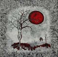 Red Moon Painting by Sylvia Sotuyo - Red Moon Fine Art Prints and Posters for Sale