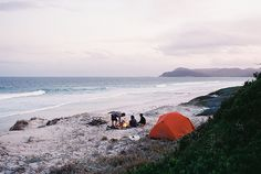 Camping on the beach http://www.amazon.com/The-Reverse-Commute-ebook/dp/B009V544VQ/ref=tmm_kin_title_0
