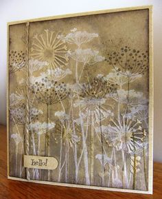 Kraft and embossing folder*