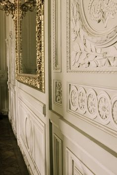 details at versailles art deco Versailles, French Castles, Interior And Exterior, Interior Design, Transitional House, French Cottage, Paris, Wainscoting, Inspired Homes