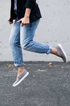 Classic and comfortable for everyday, these slip-on sneakers are surprisingly chic too @Nordstrom