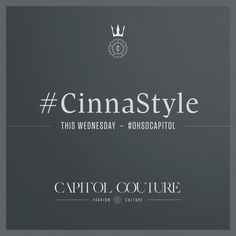 Who's taking Couture to the next level? See more #Cinna, this Wednesday. #CinnaStyle = #OhSoCapitol | www.capitolcouture.pn