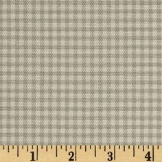 Small Check Ivory/Sage from @fabricdotcom  Screen printed on cotton duck; this fabric is medium weight (approximately 6.1 oz. per square yard) and perfect for light upholstery, window treatments, toss pillows, duvet covers, also tote bags and jackets. *Prewash to allow for shrinkage. Colors include ivory and sage.
