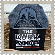 The Dark One hooded towel design. #Embroidery #Applique