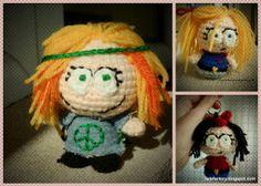 1500 Free Amigurumi Patterns: South park caricature (hippie) doll crochet pattern