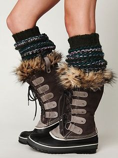 Yeah, I'm going to have to have these.  The problem will be deciding which color!  Joan of Arctic Boot - freepeople.com
