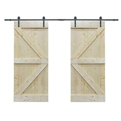 The 2 Sets Solid Core Natural Knotty Pine Interior Barn Door Slabs with Hardware Kits are specially designed to transform any doorway to a stylish transition between spaces. As a slab, the distinctive Sliding Closet Doors, Sliding Barn Door Hardware, Sliding Wardrobe, Wardrobe Doors, Door Hinges, Accordion Doors, Barn Style Doors, Glass Barn Doors, Shaker Doors
