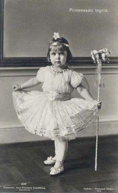 Princess Ingrid of Sweden, future Queen of Denmark.