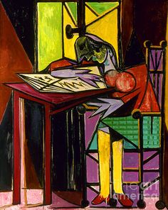 PICASSO: WOMAN/BOOK, 1935. Pablo Picasso: Woman Reading. Oil on canvas, 1935.