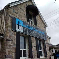 MacAskill Chiropractic Whitby Building signage