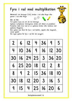 Today you can define mental math in various different ways. Some would say, memorizing times table and remembering the solutions can form the part of mental mathematics. Learn Swedish, Math Multiplication, Karma, Math Lessons, Math Tips, Math For Kids, Math Games, Kids Education, Teaching Math