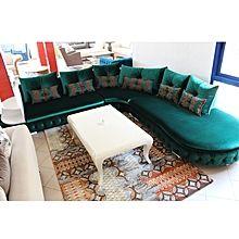 Salon D Angle Royal Daim 7 Places Vert Caisson De Rangement Salon Dangle Salon