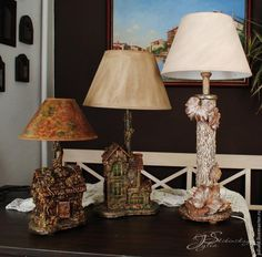 """Создание Лампы """"Осенний вальс"""" - Ярмарка Мастеров - ручная работа, handmade"""