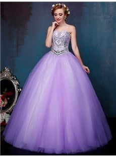 Natural Sweet 16 Purple Sweetheart Formal Evening Ball Gown Celebrity Dress