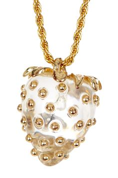 Clear Strawberry Pendant Necklace