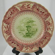 Rare Antique Early Staffordshire 2 Color Transferware Plate, Circa 1826-35 by EnglishTransferware on Etsy, $149.99