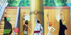 Sanji, Nami, Luffy, Usopp, Chopper et Zoro - One piece