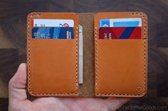 6 Pocket Vertical wallet hand stitched by OneStarLeatherGoods
