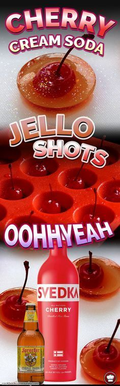 CHERRY VODKA CREAM JELLO SHOTS - Such a lovely creamy cherry flavor!