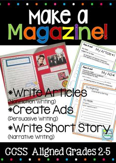 Magazine writing activities