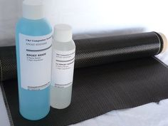 "Real Carbon Fiber Kit - Plain Weave Cloth - 14""W with 12 oz. epoxy resin! | eBay"